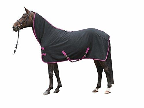 HKM Multifunktionsabschwitzdecke, Rückenlänge 155 cm, schwarz/pink