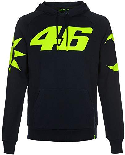 VR46 Yamaha Vale Rossi Pullover Sweater Black, Größe: XXL
