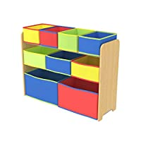 Class Kids' Toy Storage Organizer with 9 Fabric Storage Box - CLJWTR-3090