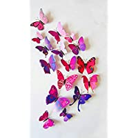 3D butterflies wall decoration - Purple