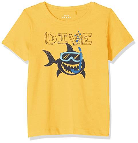 NAME IT Baby-Jungen NMMVAGNO SS LOOSE TOP H T-Shirt, Gelb (Daffodil), (Herstellergröße: 92) -