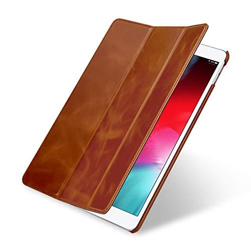 StilGut Leder-Hülle kompatibel mit Apple iPad Air 3, Couverture Case, Cognac (Ipad Case Leder 3)