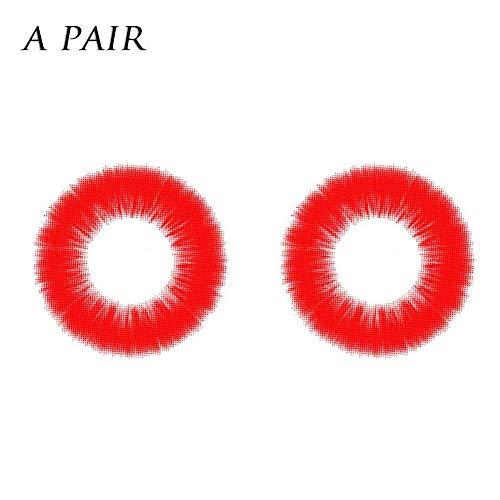 Charme und attraktive Frauen Multi-Color 2pcs Kosmetische farbige Kontaktlinsen Make-up Lidschatten Augen Kosmetik