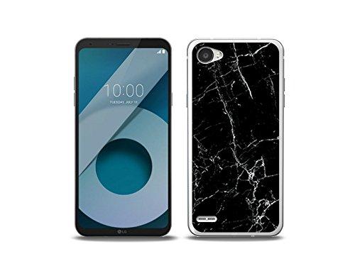 etuo LG Q6 Handyhülle Schutzhülle Etui Hülle Case Cover Tasche für Handy Fantastic Case - Schwarze Marmor