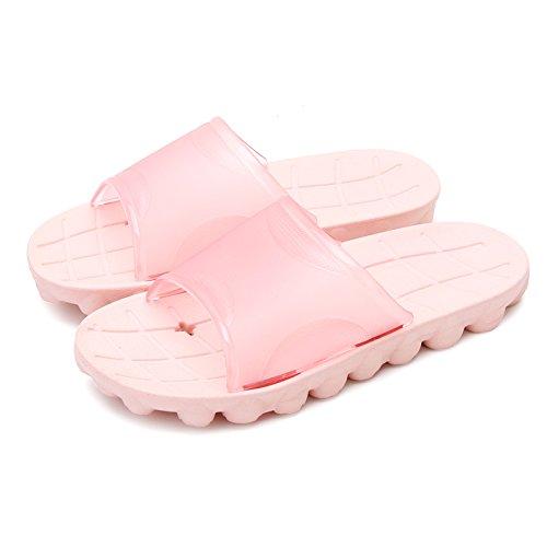 DogHaccd pantofole,Un paio di estate acqua ciabatte da bagno, vasca da bagno ha un in plastica antiscivolo cool pantofole home uomini Codice di grandi dimensioni Rosa chiaro1