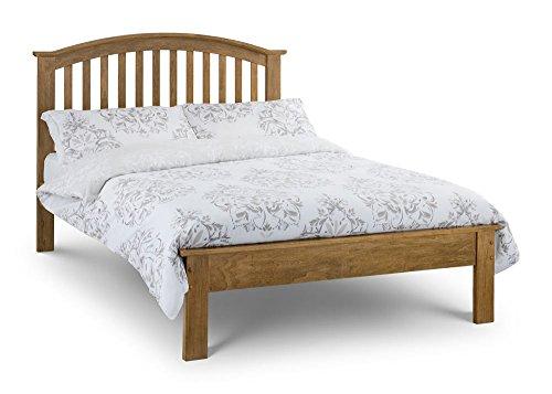 Happy Beds Olivia Bed Wooden Oak Pocket Sprung Mattress 4'6'' Double 135 x 190 cm
