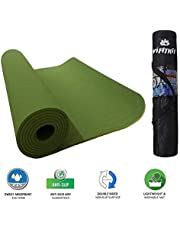 VIFITKIT® Yoga Mat with Free Yoga mat Bag Anti Skid Yoga mat for Gym Workout and Flooring Exercise Long Size Yoga Mat for Men Women