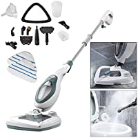 Voche 1500W Multi Function 20-in-1 Floor Detachable Cleaner-Includes 2 Microfibre, Blue Steam Mop + 2 Pads, large