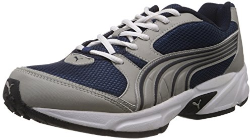 Puma Men's Typhoon 3.5 Grey and Blue Mesh Running Shoes - 6 UK