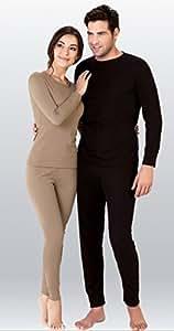 THERMOFORM © Active HCT 4–008 Unisexe-Ensemble de sous-vêtements thermiques-shirt fonction Long Johns &sable, M)