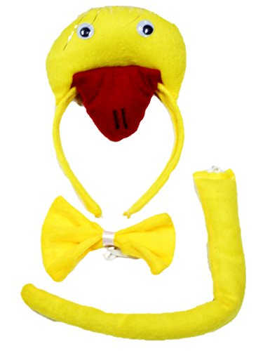 yellow-duck-headband-bowtie-tail-3pc-costume-for-children-halloween-or-party-gelb