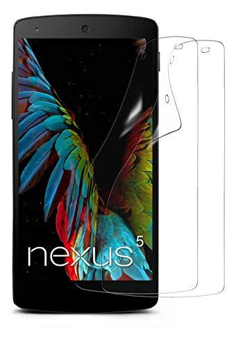 moex 2X LG Google Nexus 5 | Schutzfolie Klar Bildschirm Schutz [Crystal-Clear] Screen Protector Display Handy-Folie Dünn Bildschirmschutz-Folie für LG Google Nexus 5 Bildschirmfolie
