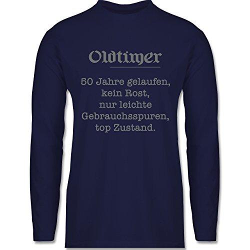 Shirtracer Geburtstag - 50 Jahre Oldtimer Fun Geschenk - Herren Langarmshirt Navy Blau