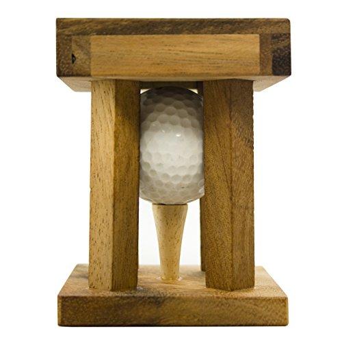 Woods Handicap – Das Golfrätsel –Personalisiert mit [Text] – Knobelspiele aus Holz inkl. Golfball – Lustige Golf Geschenke – Geschenke für Golfer – Golfball Geschenk – Geschenkpackung für Golfbälle - 6