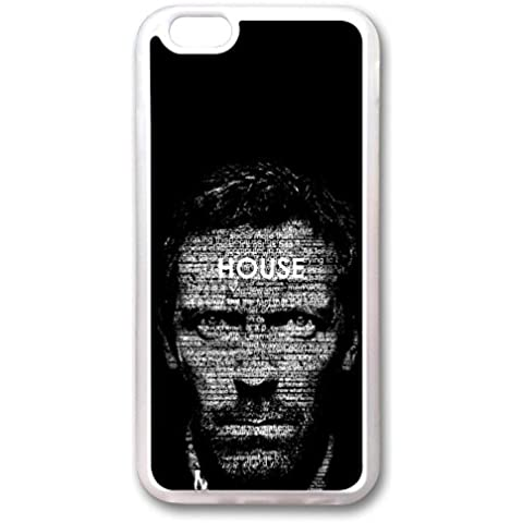 iPhone 6 Case, 6 Case - Transparent Skin Rubber Scratch-Proof Case Cover for iPhone 6 House Md Trendy Design Crystal Clear Rubber Case for iPhone 6 4.7 Inches