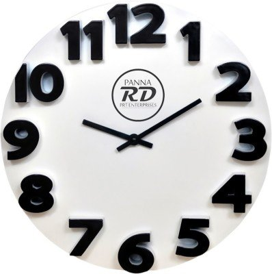 panna RD 3D Wall Clock (White).