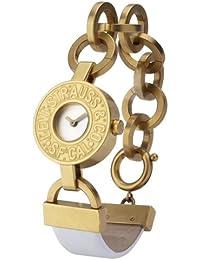 Levi's - Reloj de mujer de cuarzo, correa de piel color blanco