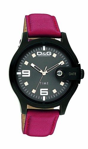 Dolce Gabbana - DW0315 - Montre Homme - Quartz - Analogique - Bracelet Cuir Rouge