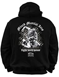 Dirty Ray Arts Martiaux MMA Fighter Sweat homme avec capuche BDT4
