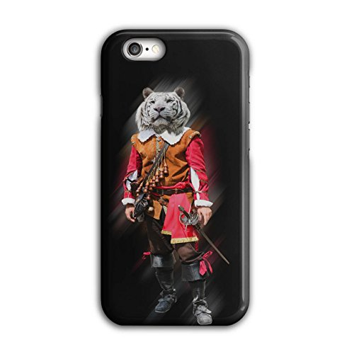 Tiger Ritter Cool Komisch Kostüm Katze iPhone 6 / 6S Hülle | (Emoji Kostüm Katze Herz)