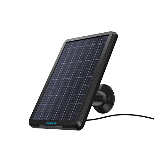 Reolink Solarpanel für Wireless Outdoor batteriebetriebene IP Kameras, wetterfest, einstellbare Halterung, unterbrechungsfreie Energieversorgung(4 Meter Kabel) (Wetter-aufzeichnungen)