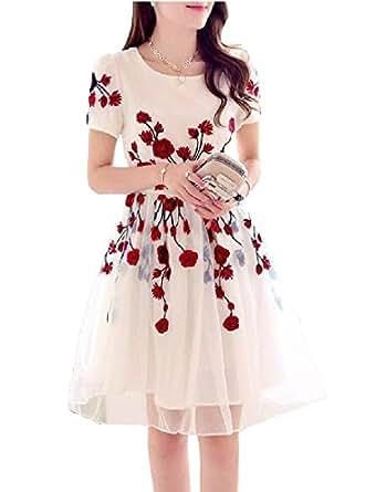 FINIVO FASHION Women's Semi Stitched Western Wear Dress