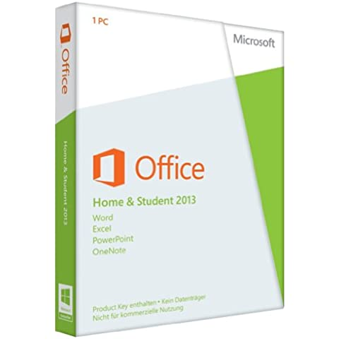 Microsoft Office Home and Student 2013 - Suites de programas (PC, DEU, Windows 7 Home Basic, Windows 7 Home Basic x64, Windows 7 Home Premium, Windows 7 Home Premium