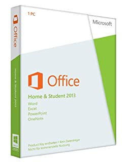Microsoft Office Home and Student 2013 1 licencia(s) Alemán - Suites de programas (1 licencia(s), Alemán, Windows 7 Home Basic,Windows 7 Home Basic x64,Windows 7 Home Premium,Windows 7 Home Premium..., 3000 MB, 1024 MB, 1000 MHz) (B00A2ILX2O) | Amazon price tracker / tracking, Amazon price history charts, Amazon price watches, Amazon price drop alerts