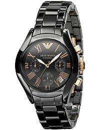 Emporio Armani AR1411 - Reloj cronógrafo de cuarzo para hombre con correa de cerámica, color negro