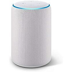 Nouvel Echo Plus (2ème génération), Son de qualité premium avec un hub maison connectée intégré, Tissu gris chiné