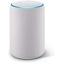Echo Plus (2ª generazione) Ricondizionato Certificato – Hub per Casa Intelligente integrato e suono di ottima qualità - Tessuto grigio chiaro