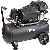 STIER Kompressor LKT 600-10-50 für Druckluft-Werkzeug, 2200 W, 10 bar, Behältervolumen 50l, 41 kg