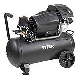 STIER Kompressor LKT 480-8-50 für Druckluft-Werkzeug, 2200 W, 10 bar, Behältervolumen 50l, 41 kg