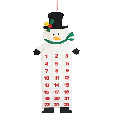 Mitlfuny Christmas,Weihnachtsdekoration,Christmas Decorations,Christmas Vacation,Weihnachten Adventskalender & Taschen Filz Kinder Wandbehang Countdown Dekore