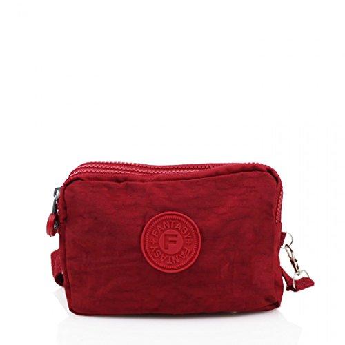 Elegant Fashions, Borsa a tracolla donna Red