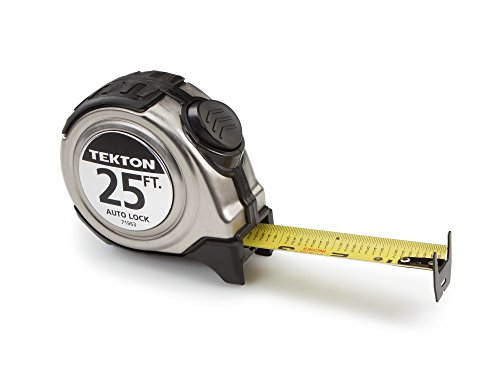 TEKTON 71963 Maßband mit Rastfunktion, 7,6 m bei 2,5 cm Breite (Maßband 25 Fuß)