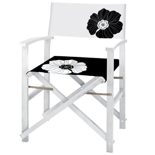 Gartenmöbel Deck (DIREKTOR STUHL IM lackiertem Holz 4PZ DECK für Gartenmöbel außerhalb Meer)