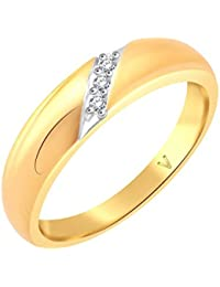 Vidhi Jewels Gold Plated Centre Diamond Unique Pattern Alloy & Brass Finger Ring For Women And Girls [VFR470G]