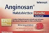 tetesept Anginosan Halstabletten Kirsche - zuckerfrei – Antibakterielle Halsschmerztabletten gegen akute Reizungen in Hals & Rachen – 5 x 20 Stück