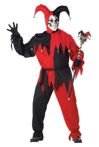 Generique - Kostüm verrückter Joker für Männer XXL (Red Joker Kostüm)