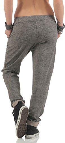 malito Sweatpants im Strick-Muster Baggy 7396 Damen One Size Fango