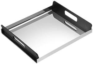 alessi gia01 35 tablett rechteckig edelstahl schwarz k che haushalt. Black Bedroom Furniture Sets. Home Design Ideas