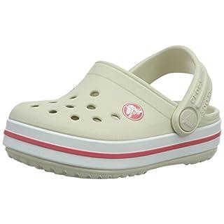 crocs Crocband Clog Kids, Unisex-Kinder Clogs, Beige (Stucco/Melon), 34/35 EU