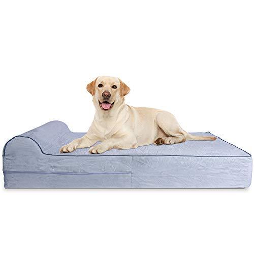 KOPEKS - Cama Extra Grande para Perros Mascotas con Memoria Viscoelástica Ortopédico...