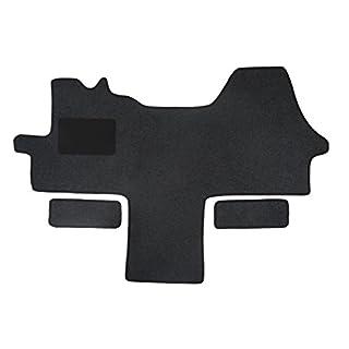Fußmatte 1614 - Autoteppich von Alpha-Tex (1-tlg. + 2 Einstiege in Qualität Classic anthrazit, Umrandung schwarz)