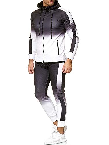 OneRedox   Herren Trainingsanzug   Jogginganzug   Sportanzug   Jogging Anzug   Hoodie-Sporthose   Jogging-Anzug   Trainings-Anzug   Jogging-Hose   Modell 1274 Weiß