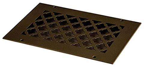 SteelCrest BTU10 X 6RORBH Bronze Series Designer Wall/Ceiling Vent Cover, with Mounting Screws, Oil Rubbed