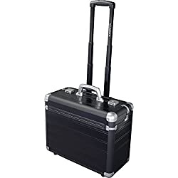 Alumaxx Pilotenkoffer Discovery, Trolley aus Aluminium, Rollkoffer schwarz, Businesstrolley, Aktenkoffer