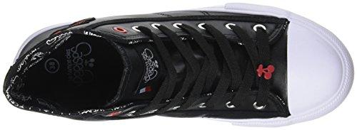 Le Temps des Cerises Damen Origin High Hohe Sneaker Noir (Heart Black)