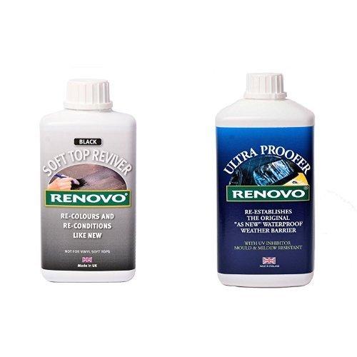 Preisvergleich Produktbild Ronovo Bundle enthält Soft Top Reviver 500 ml und Ultraproofer 1 Litre, Schwarz